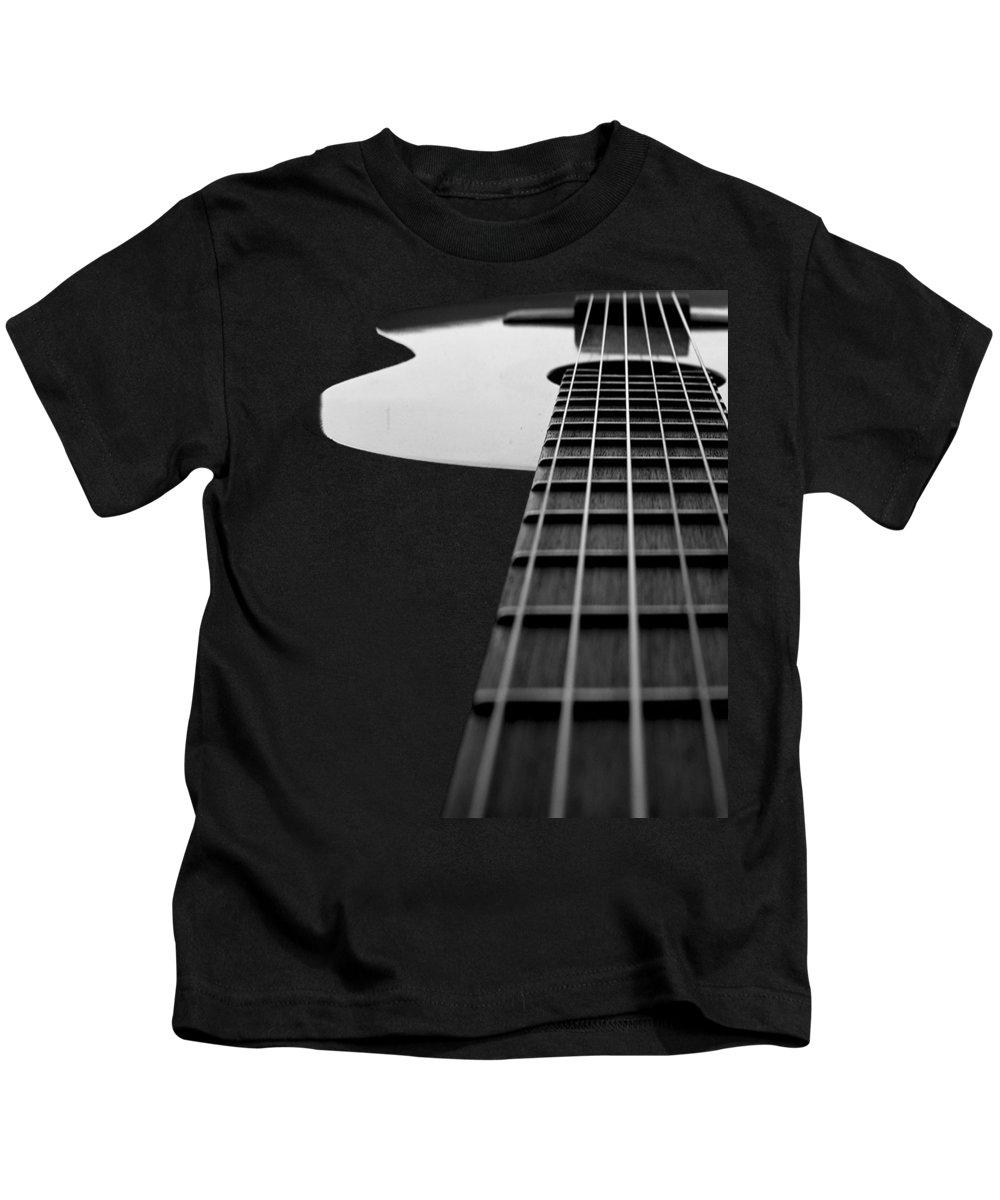 Cool Kids T-Shirt featuring the digital art Acoustic Guitar Musician Player Metal Rock Music Lead by Super Katillz