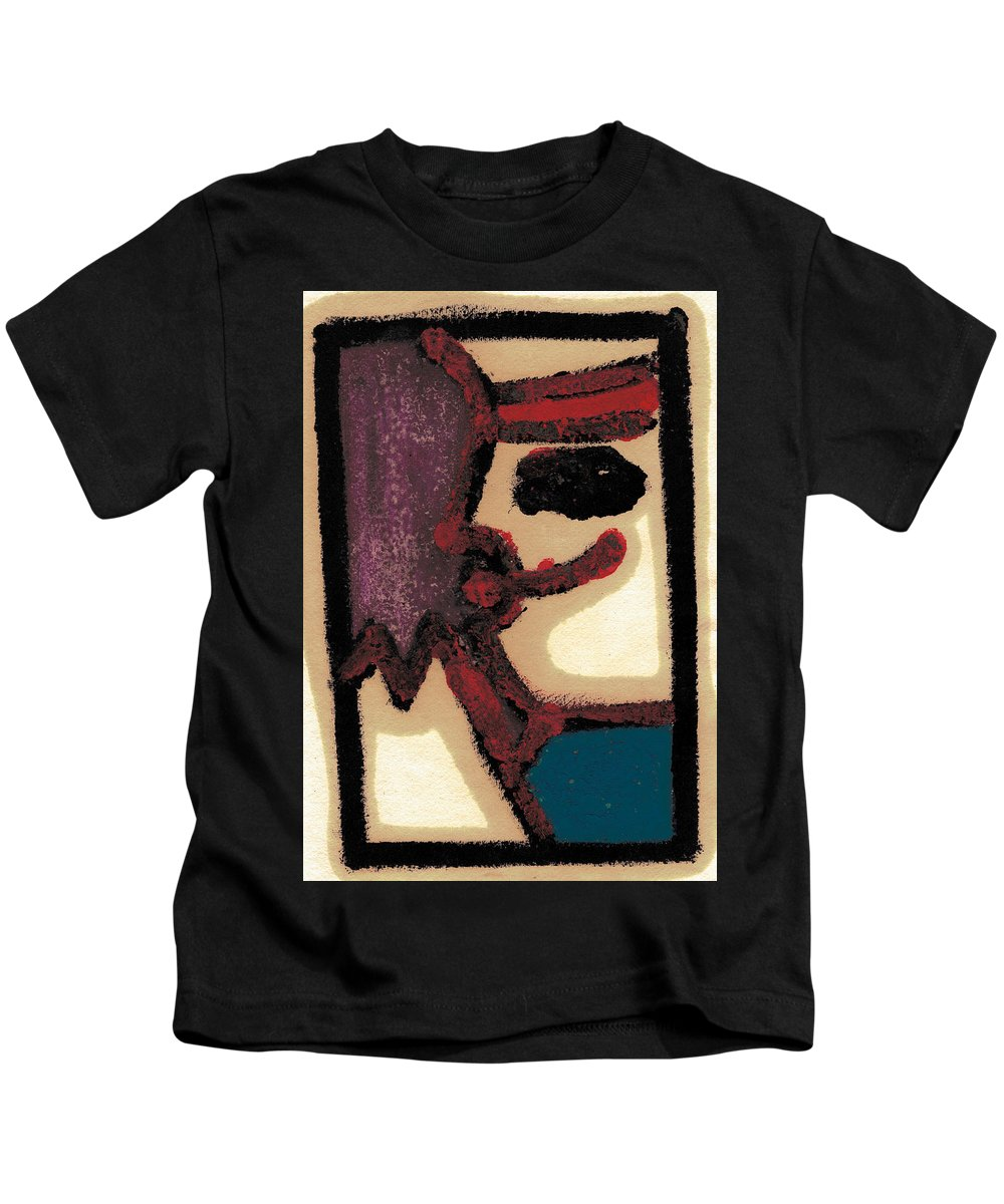 Moustache Kids T-Shirt featuring the painting After Mikhail Larionov Oil Painting 1 by Edgeworth DotBlog