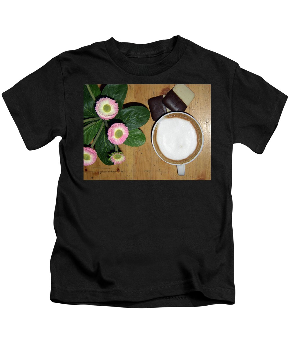 Artwork Kids T-Shirt featuring the photograph Afternoon Pick-me-up by Jaquith Travis