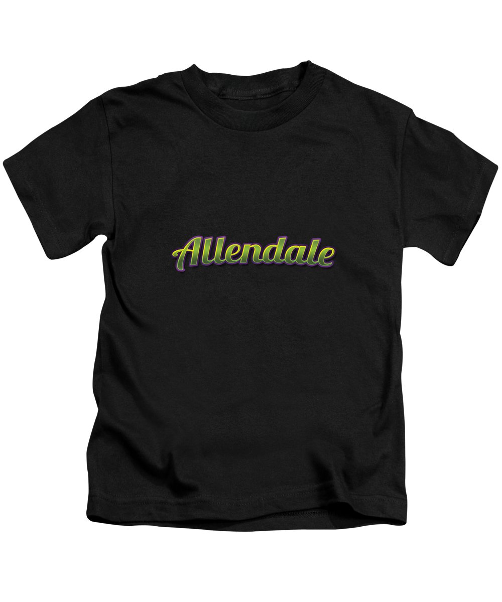 Allendale Kids T-Shirt featuring the digital art Allendale #allendale by TintoDesigns