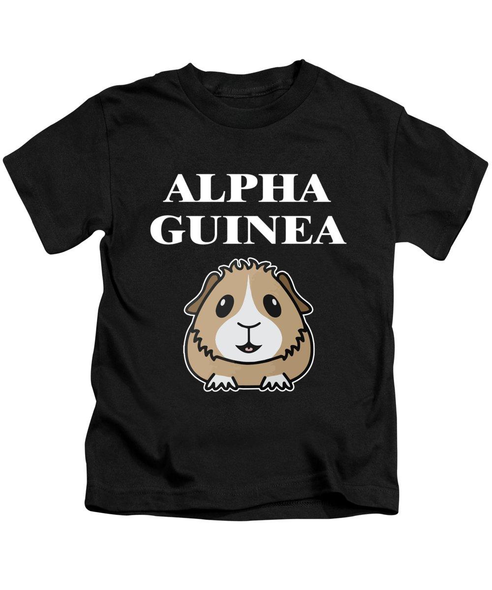 Guinea-pig Kids T-Shirt featuring the digital art Alpha Guinea Pig by Funny4You