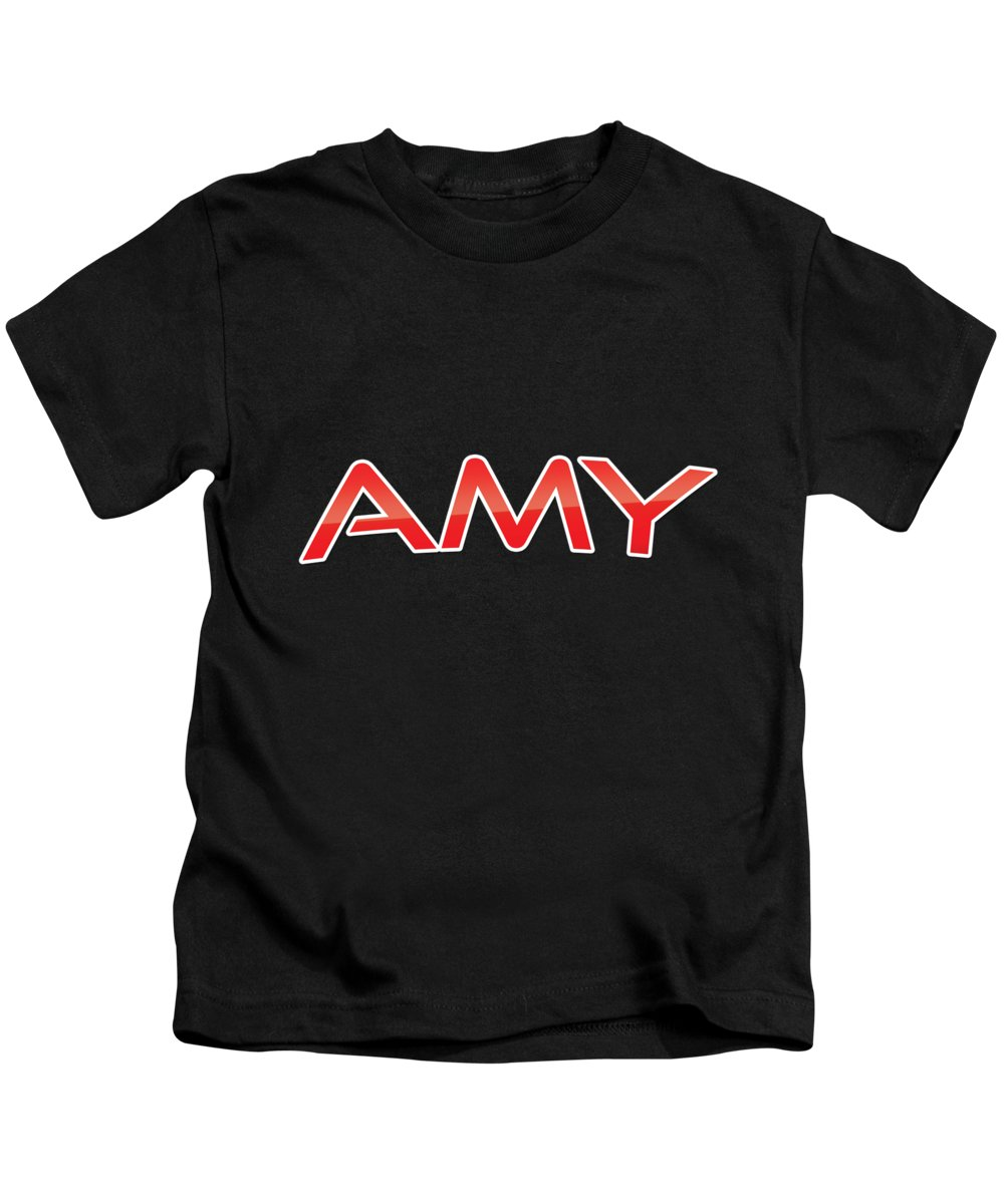 Amy Kids T-Shirt featuring the digital art Amy by TintoDesigns
