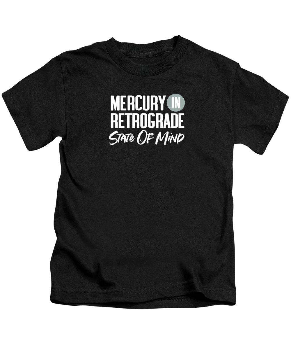 Mercury In Retrograde Kids T-Shirt featuring the digital art Mercury In Retrograde State Of Mind- Art By Linda Woods by Linda Woods