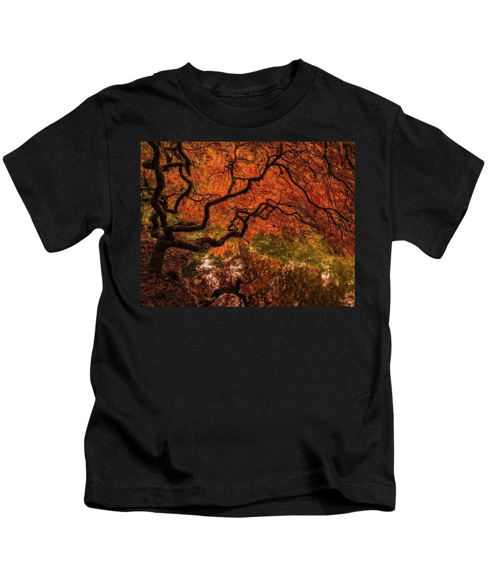 Autumn Kids T-Shirt featuring the photograph Autumn Reflections by Judi Kubes