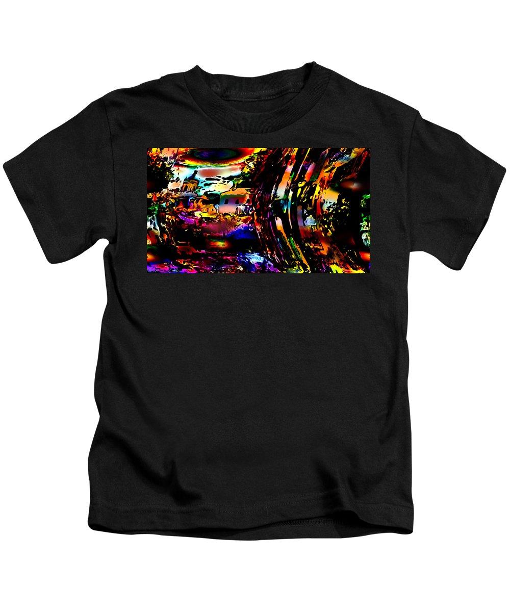 World's Kids T-Shirt featuring the digital art Bent Out Of Shape by Ron Fleishman