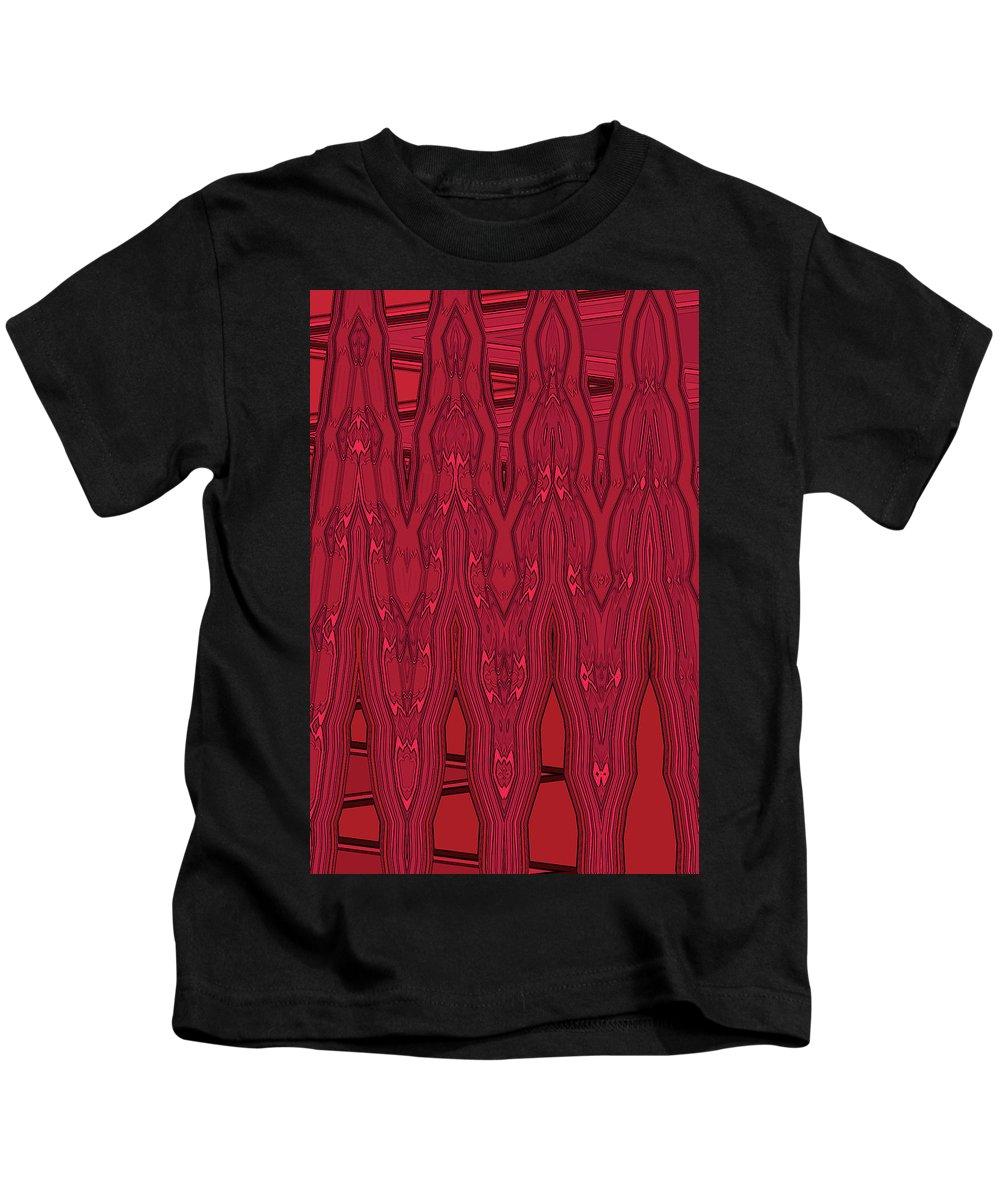 Kids T-Shirt featuring the digital art Bowling Pins 1 by Margaret Meg Murray