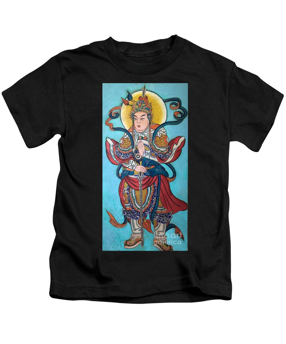 Buddha Kids T-Shirt featuring the painting Buddha by Danuta Rothschild
