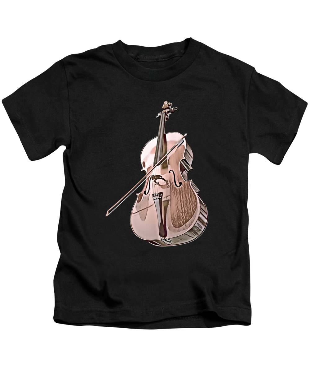 Cool Kids T-Shirt featuring the digital art Cello String Music Instrument Musician Color Designed by Super Katillz