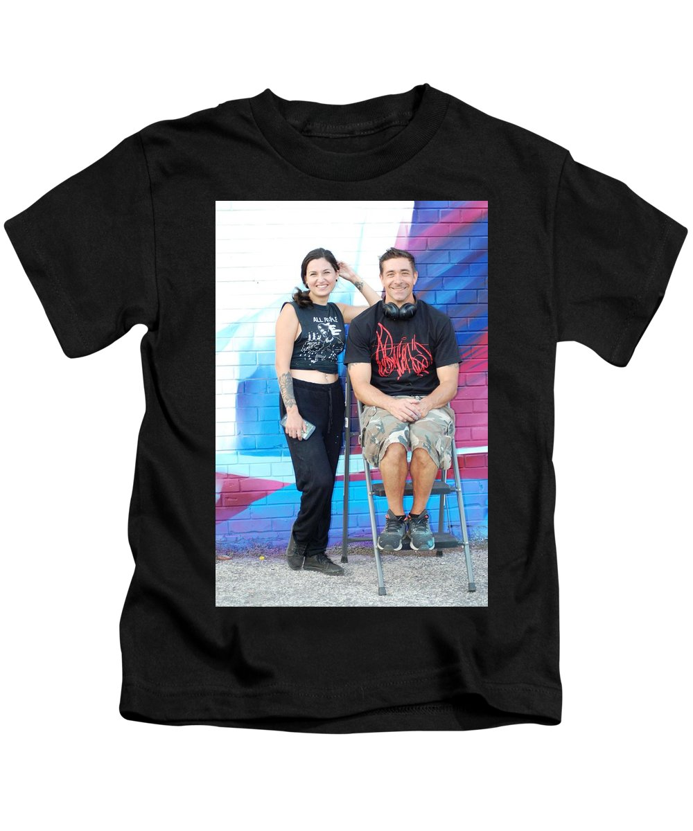 People Kids T-Shirt featuring the photograph Chris And Alek All Smiles by Ee Photography