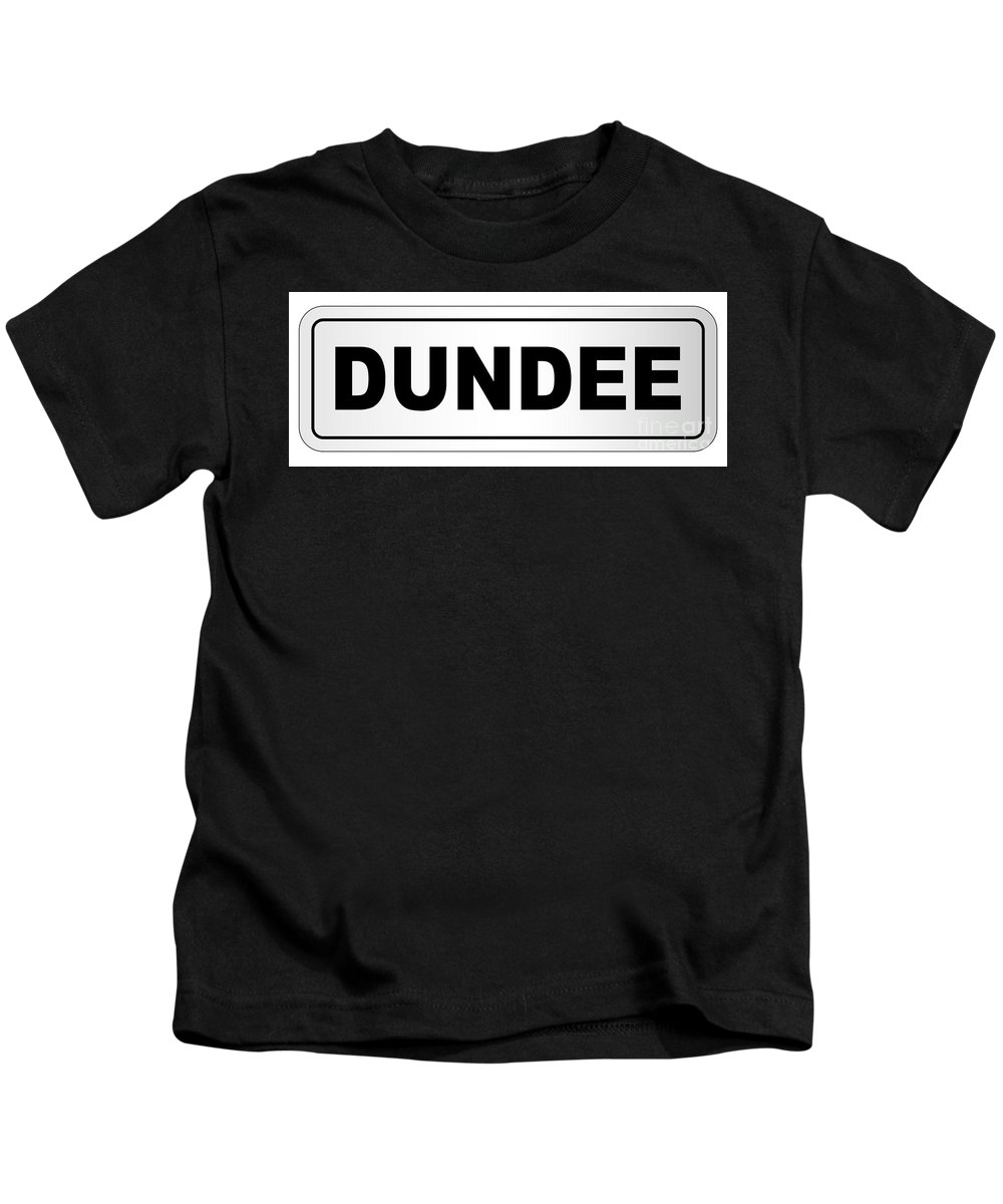Dundee Kids T-Shirt featuring the digital art Dundee City Nameplate by Bigalbaloo Stock