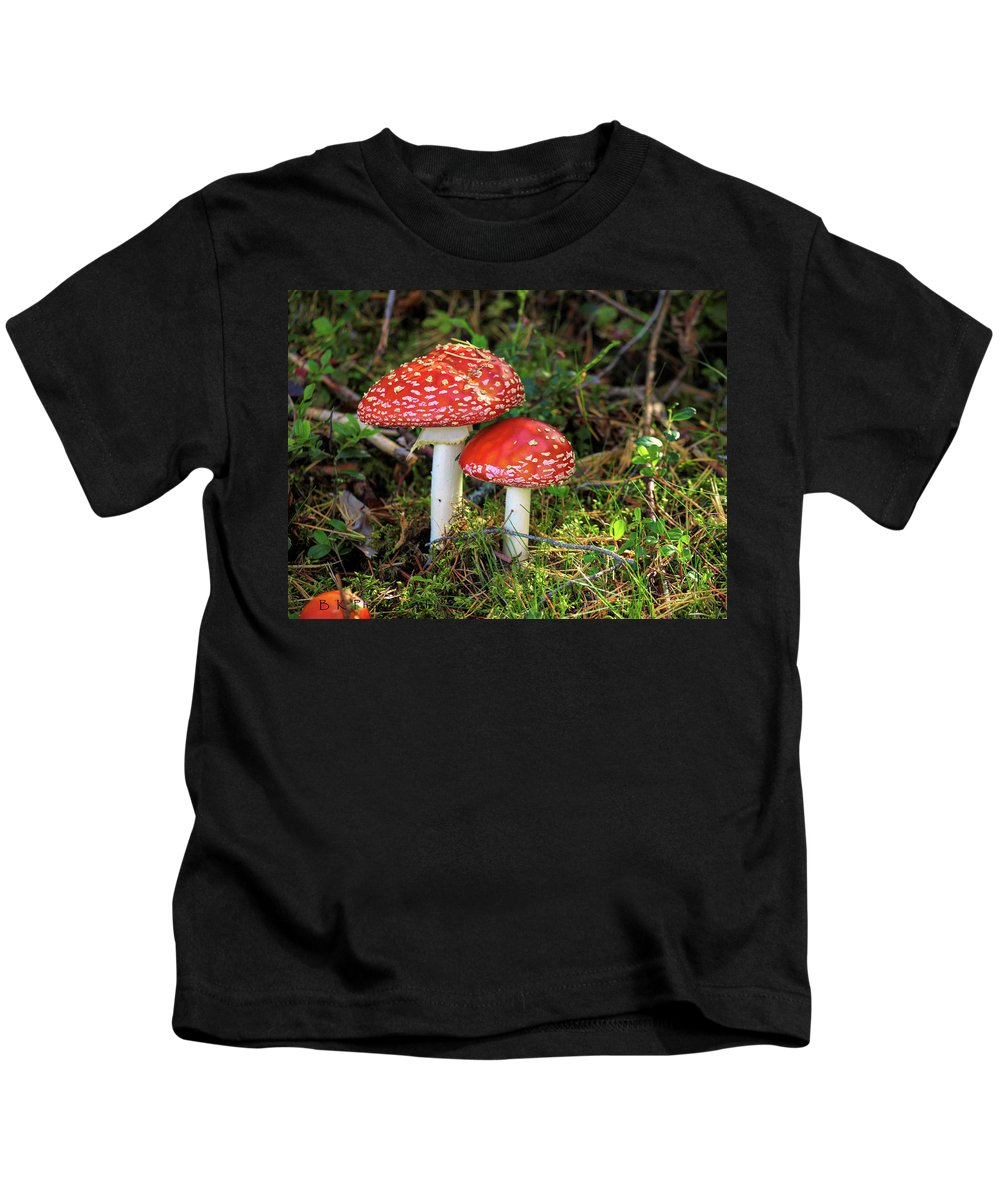 Flyagaric Kids T-Shirt featuring the photograph Fly Agaric by Barry W King
