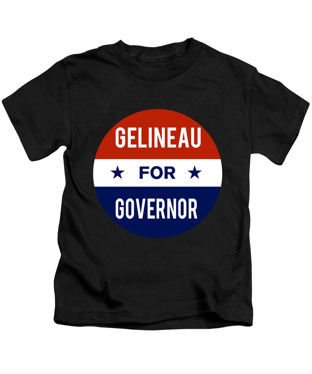 Election Kids T-Shirt featuring the digital art Gelineau For Governor 2018 by Flippin Sweet Gear