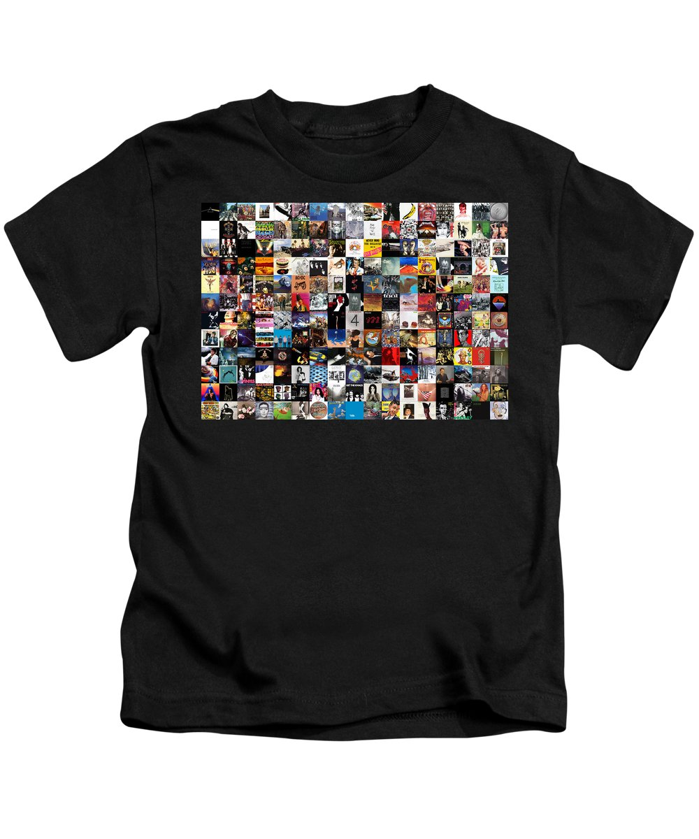 Album Covers Kids T-Shirt featuring the digital art Greatest Album Covers of All Time by Zapista OU