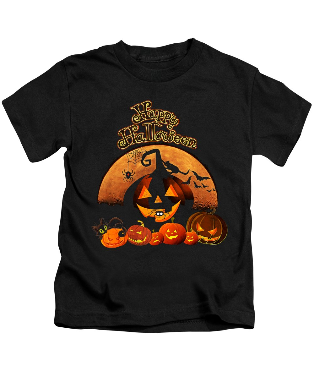 Cool Kids T-Shirt featuring the digital art Happy Halloween by Flippin Sweet Gear