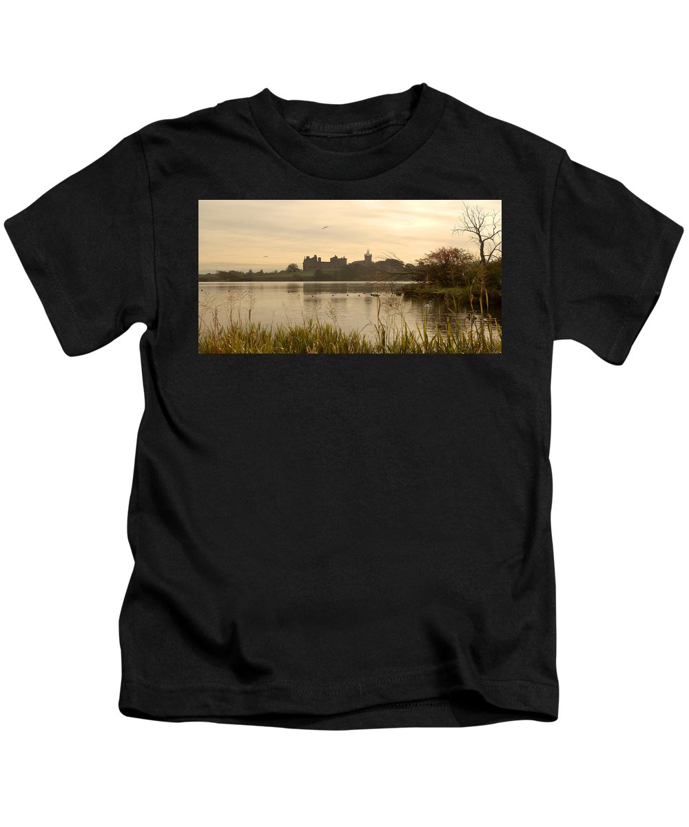 Linlithgow Kids T-Shirt featuring the photograph Linlithgow Palace At Dusk by Victor Lord Denovan