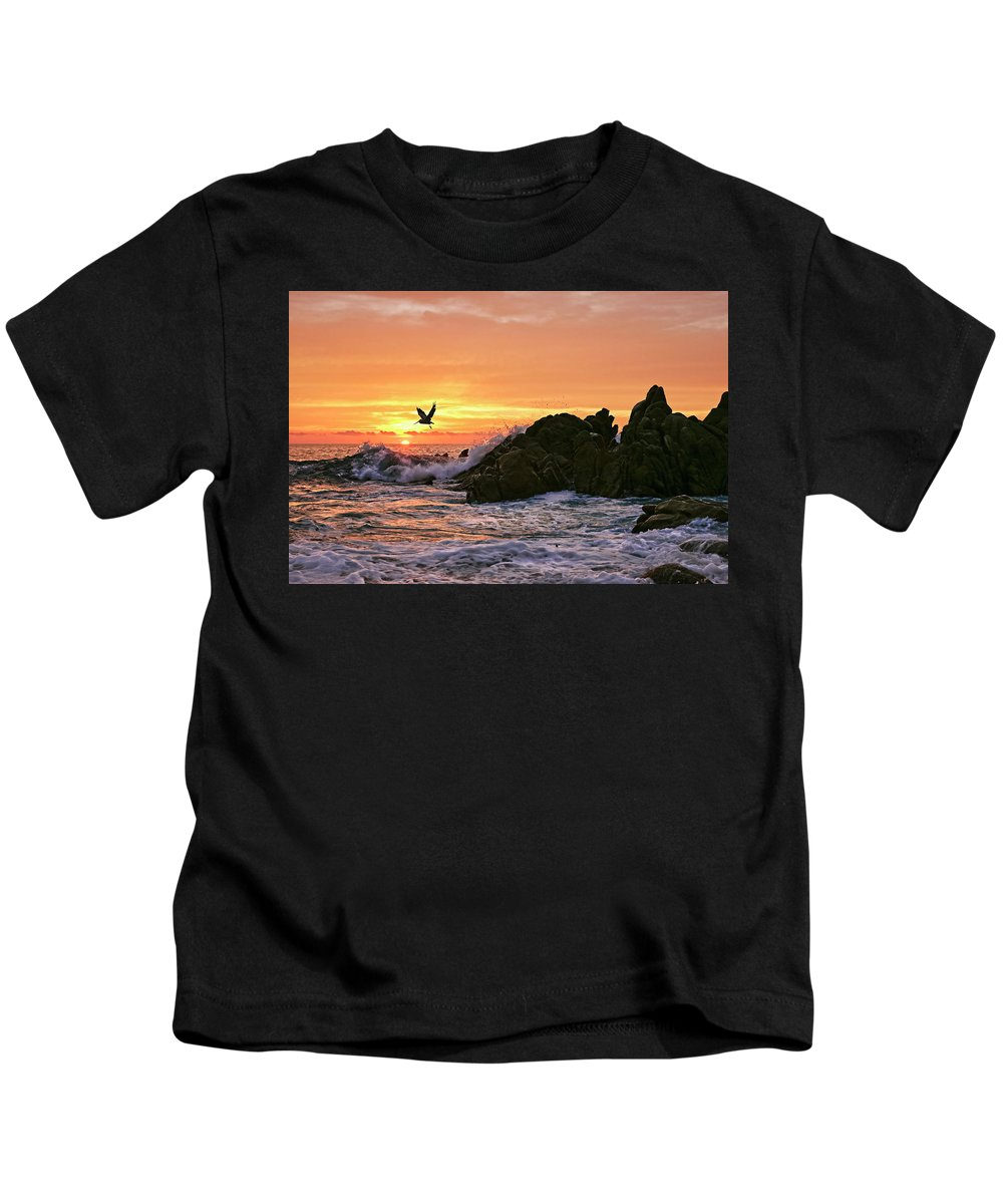 Landscape Kids T-Shirt featuring the photograph Morning Flight Serenity by Marcia Colelli