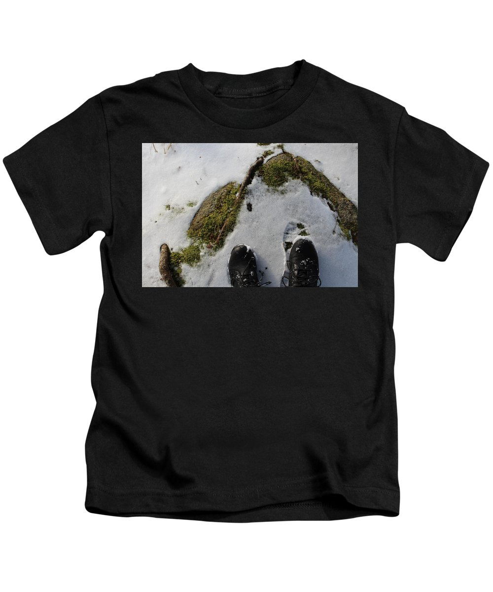 Footprints Kids T-Shirt featuring the photograph Nature Walk by Brittany Galipeau