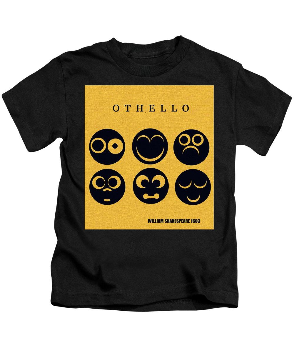 Othello Kids T-Shirt featuring the digital art Othello minimalsim cover art by David Lee Thompson