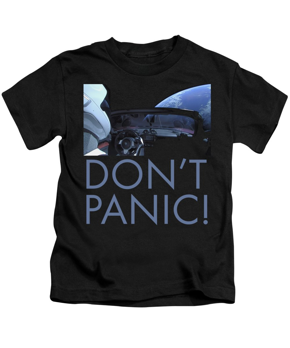 Dont Panic Kids T-Shirt featuring the photograph Starman Don't You Panic Now by Filip Hellman