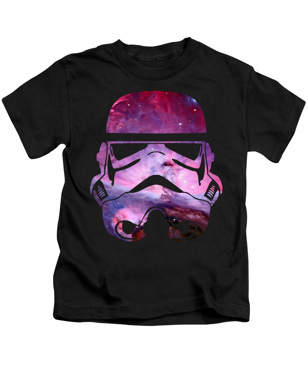 Yoda Kids T-Shirt featuring the digital art Storm Trooper Nebula by Filip Hellman