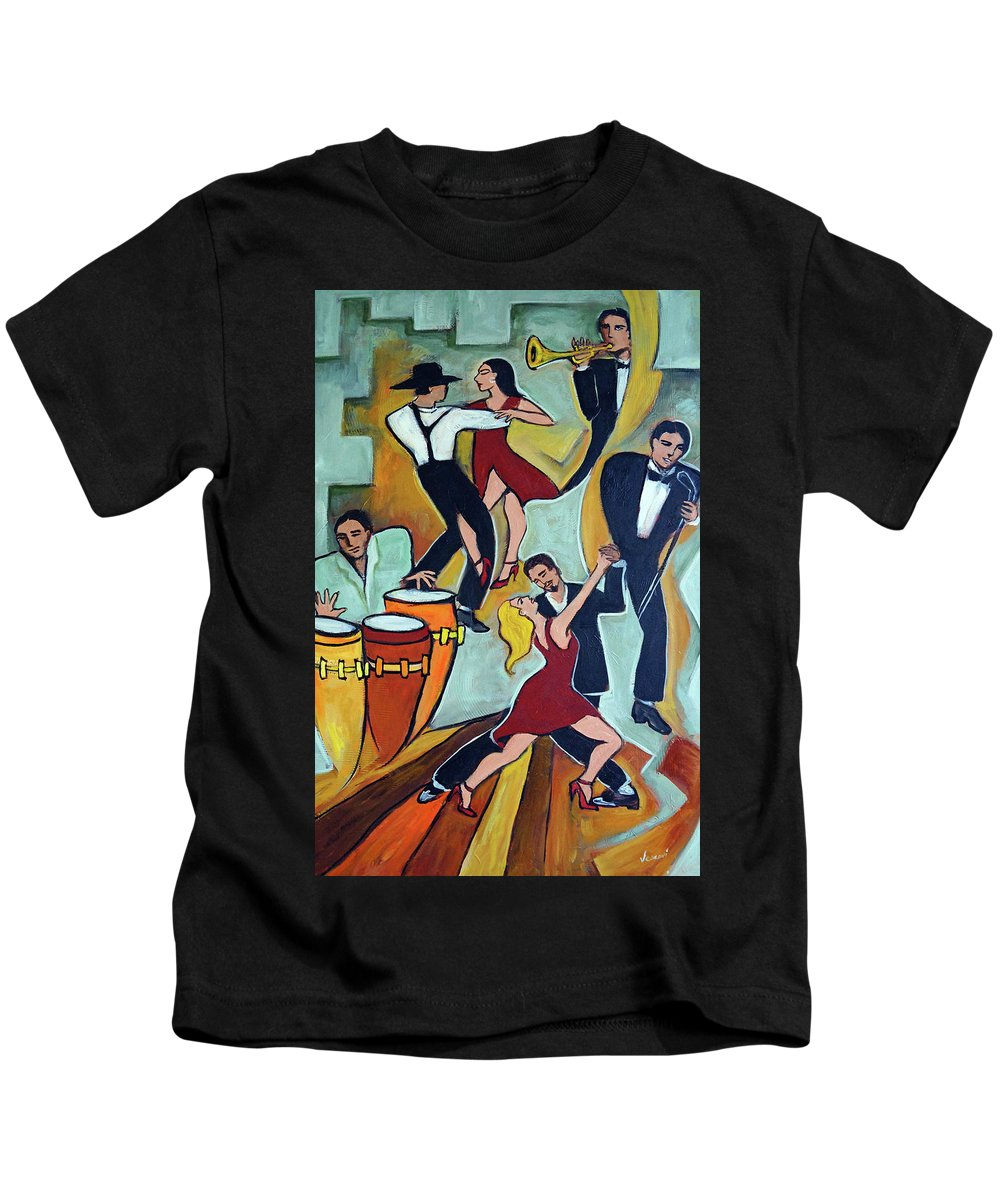 Tango Kids T-Shirt featuring the painting Tango Terroso 1 by Valerie Vescovi