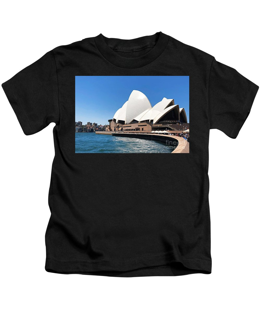Sydney Kids T-Shirt featuring the photograph The Iconic Sydney Opera House. by Trudee Hunter
