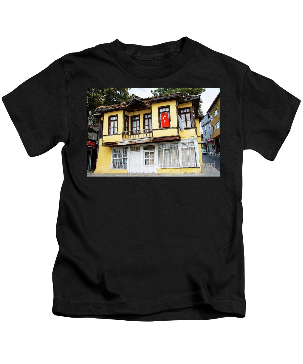 Kemerburgaz Kids T-Shirt featuring the photograph Village Center Structure Two by Bob Phillips