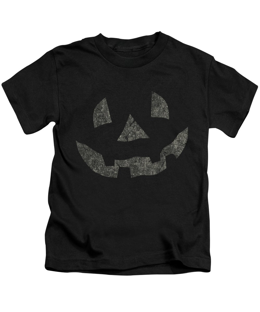 Cool Kids T-Shirt featuring the digital art Vintage Pumpkin Face by Flippin Sweet Gear