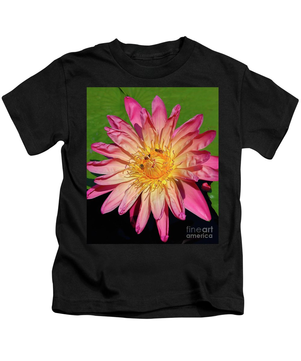 Waterlily Kids T-Shirt featuring the photograph Water Lily by Steve Edwards