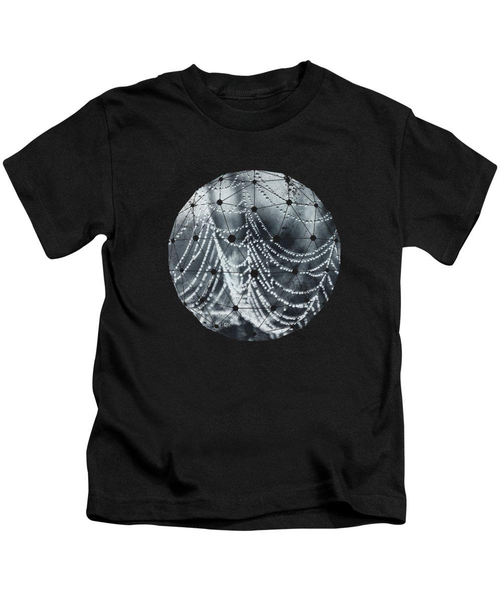 Monochrome Kids T-Shirt featuring the photograph Weight Of Water by Dirk Wuestenhagen