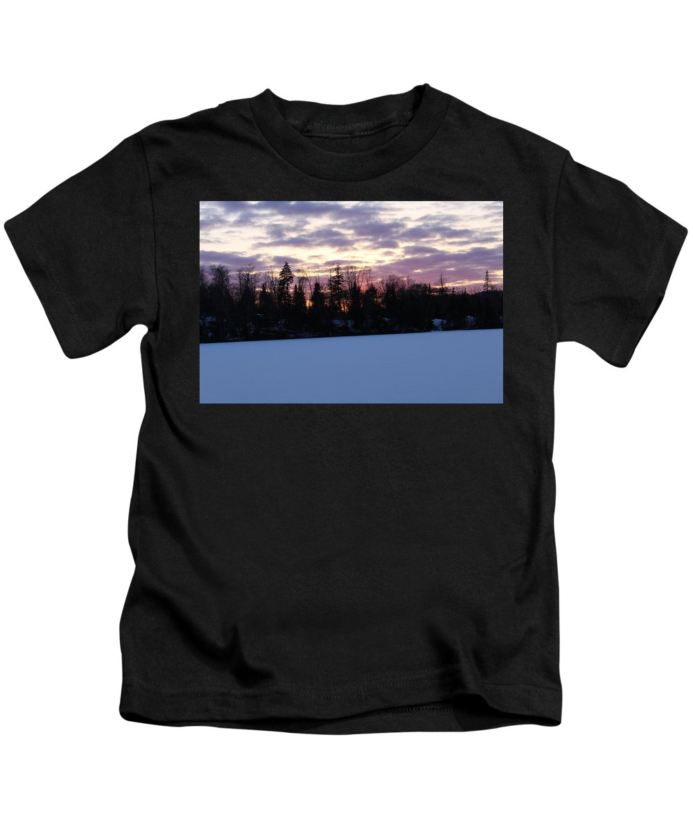 Sunset Kids T-Shirt featuring the photograph Winter Sunsets by Brittany Galipeau