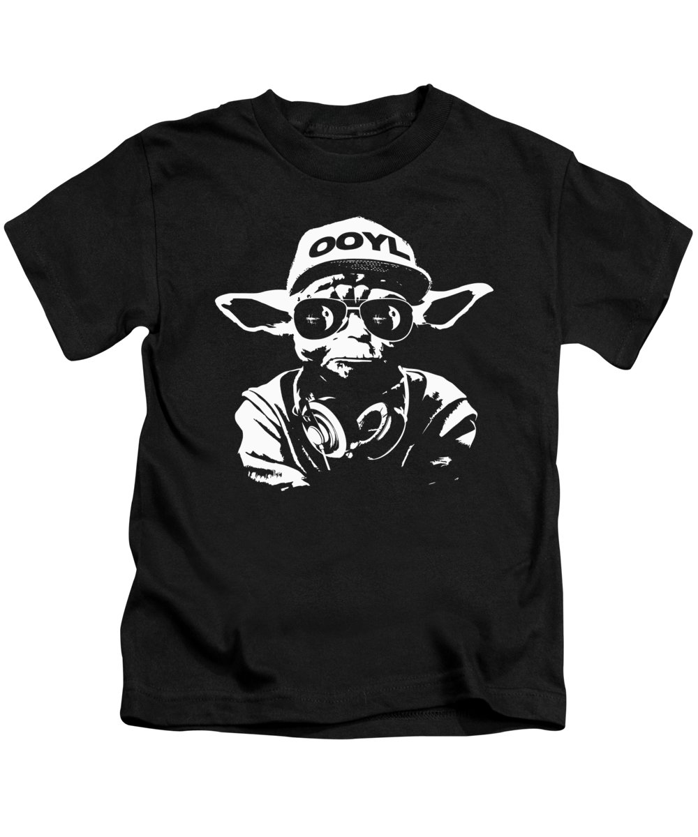 Yoda Kids T-Shirt featuring the digital art Yoda Parody - Only Once You Live by Filip Hellman