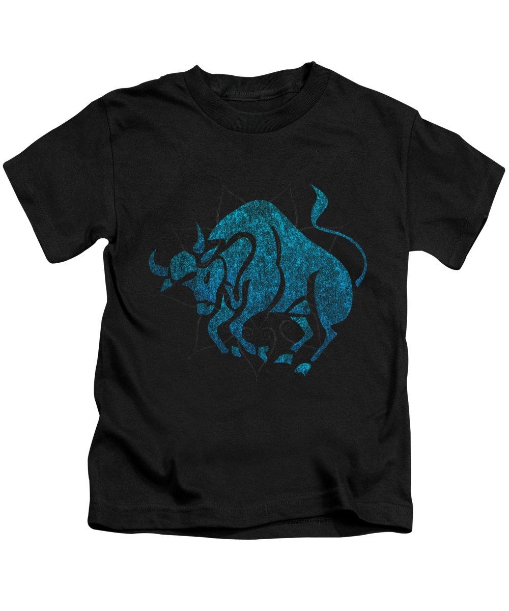 Taurus Digital Art Kids T-Shirts
