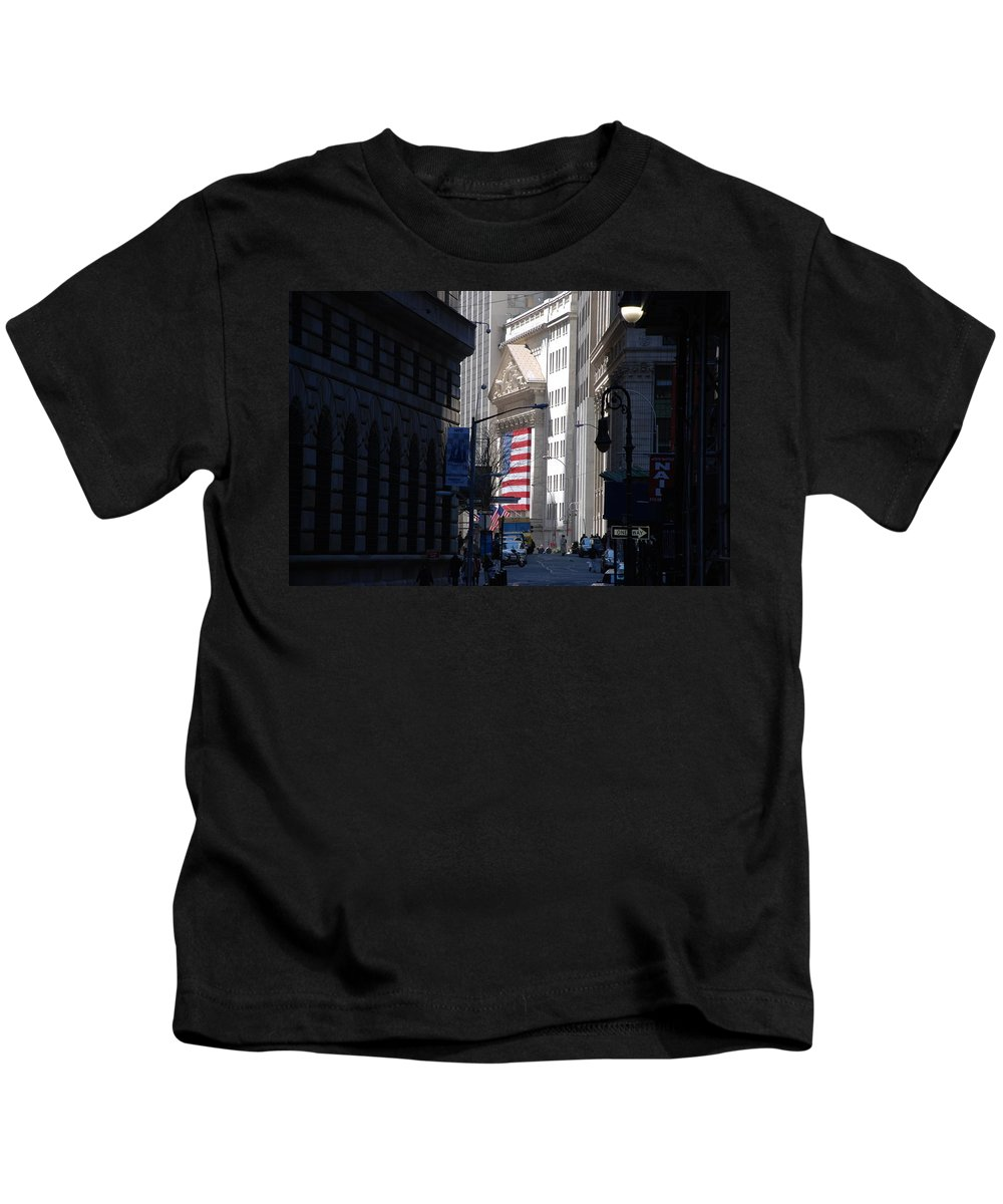 Wall Street Kids T-Shirt featuring the photograph Rise And Fall Of America Avenue by Rob Hans