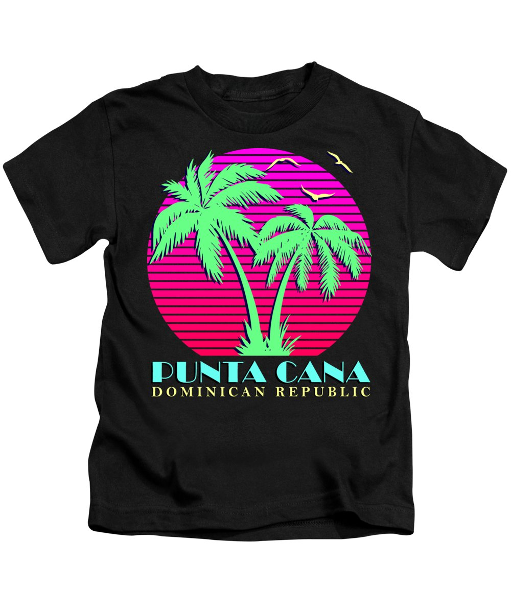 Classic Kids T-Shirt featuring the digital art Punta Cana by Filip Schpindel