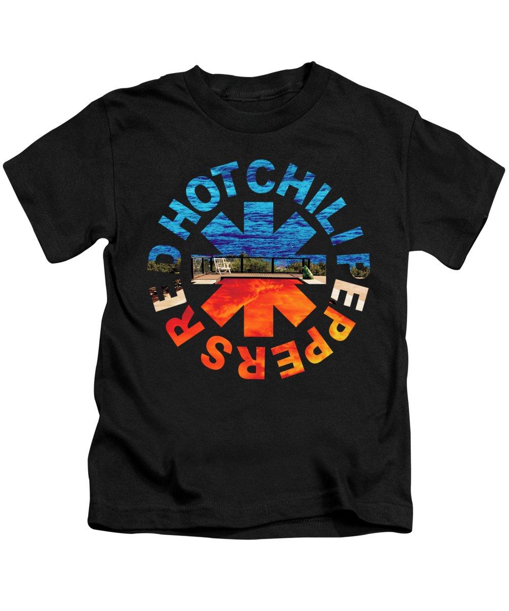 Rhcp Kids T-Shirt featuring the digital art RHCP. Californication Asterisk by Alex Puertas
