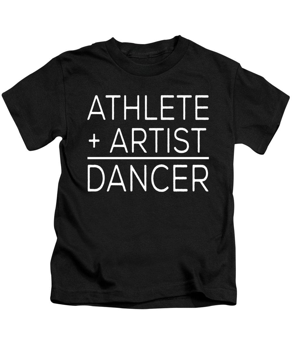 Ballerina Kids T-Shirt featuring the digital art Athlete Artist Dancer by Jacob Zelazny