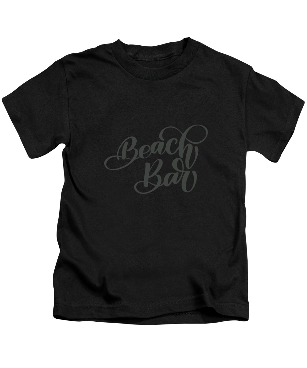 Women Kids T-Shirt featuring the digital art Beach Bar by Jacob Zelazny