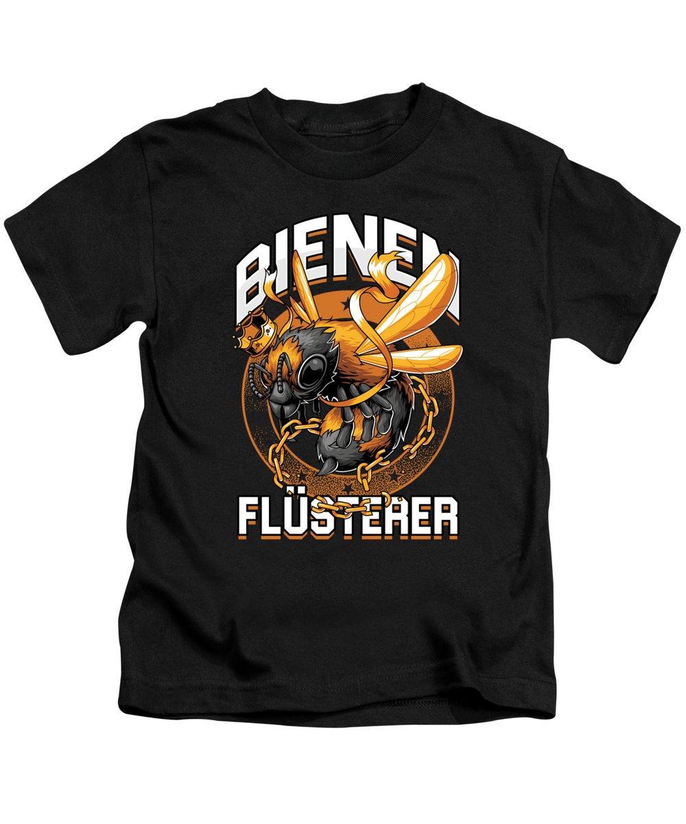 Bee Kids T-Shirt featuring the digital art Bienen Flsterer Bee Beekeeper Honeycomb Gift by Thomas Larch