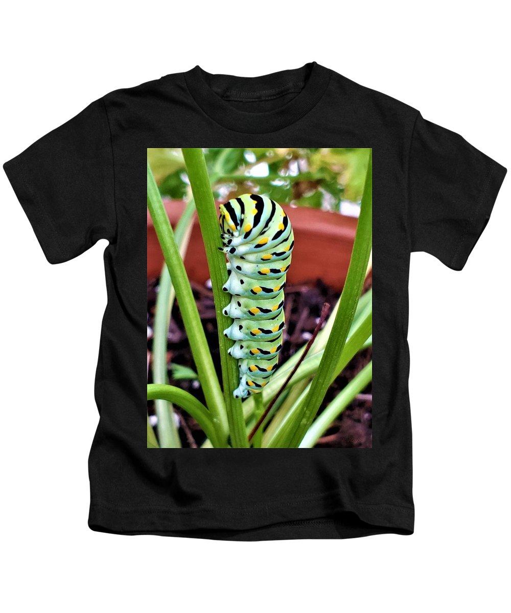 Caterpillar Kids T-Shirt featuring the photograph Caterpillar by Rob Hans