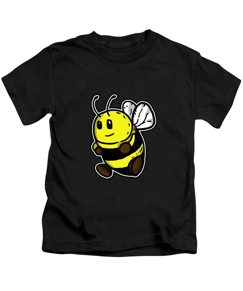Insect Kids T-Shirt featuring the digital art Cute Bee Honey Bee Beekeeper Gift Idea by J M