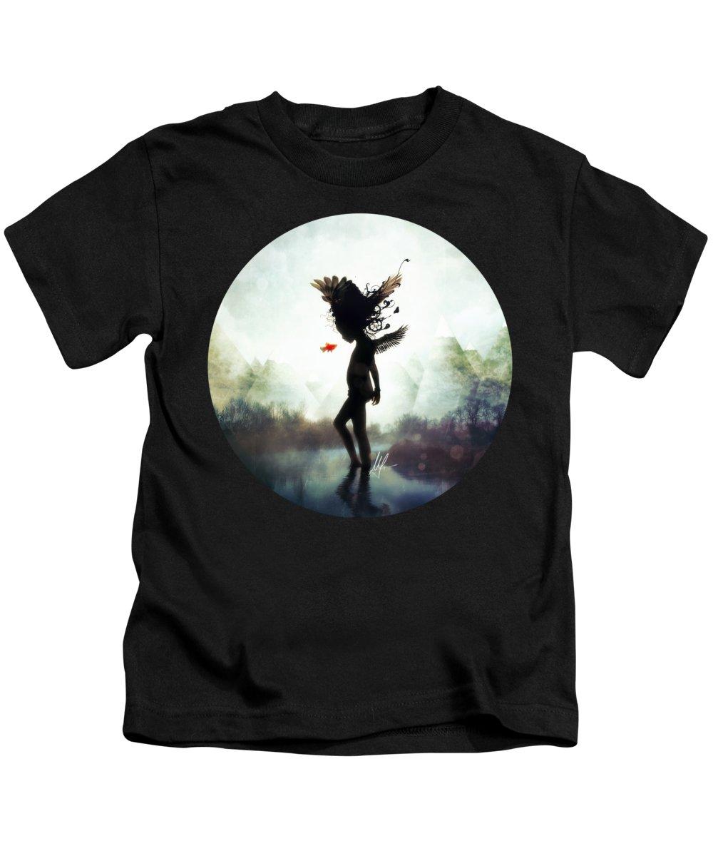 Digital Art Kids T-Shirt featuring the digital art Discovery by Mario Sanchez Nevado
