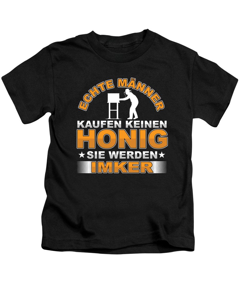 Bee Kids T-Shirt featuring the digital art Echte Mnner Bee Beekeeper Honeycomb Honey Gift by Thomas Larch
