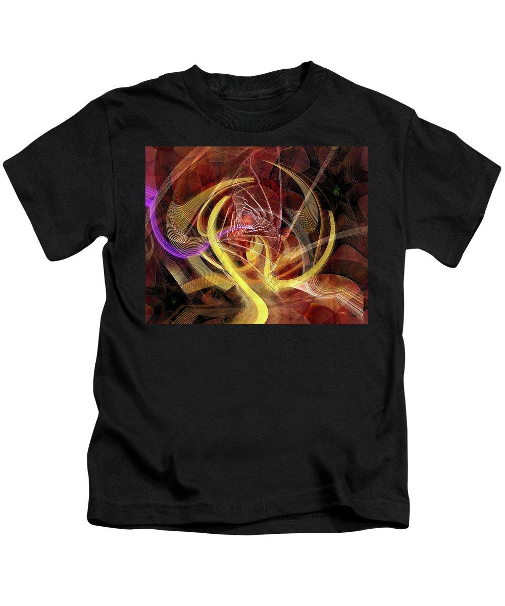 Golden Dynamic Kids T-Shirt featuring the digital art Golden Dynamic by John Robert Beck