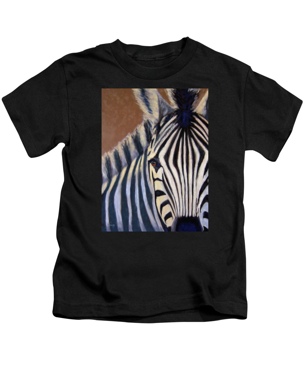 Wildlife Kids T-Shirt featuring the painting Here I Am by Linda Hiller