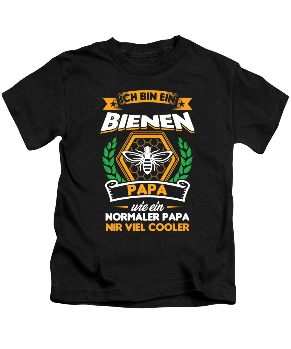 Bee Kids T-Shirt featuring the digital art Ich Bin Ein Bee Beekeeper Beehive Honeycomb Gift by Thomas Larch