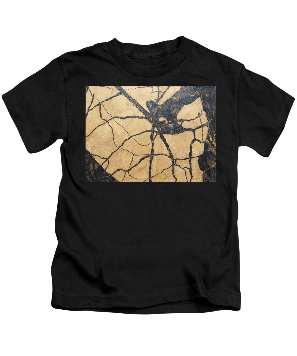 Abstract Kids T-Shirt featuring the painting Looking Up by Leah Tomaino