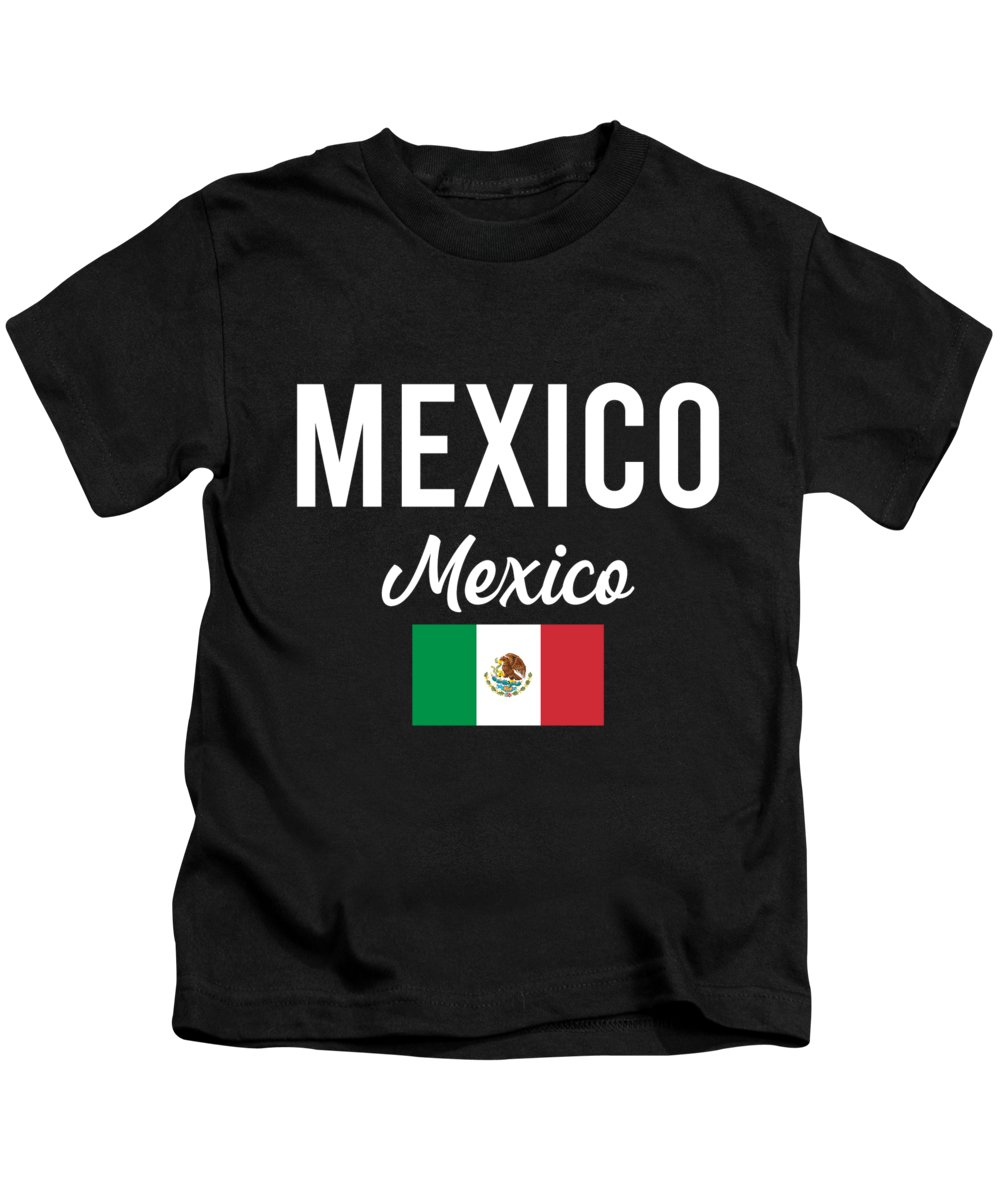 Mexico Kids T-Shirt featuring the digital art Mexico City Vacation Travel Gift Idea by J M
