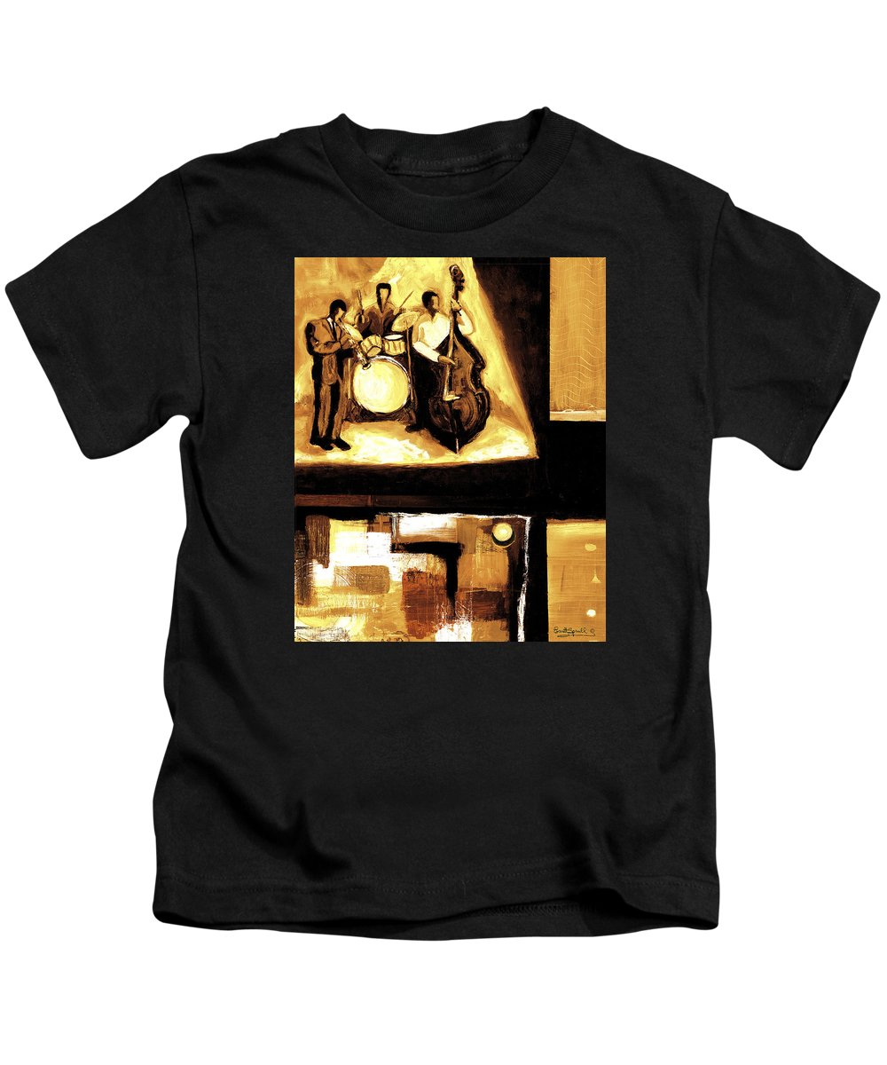 Everett Spruill Kids T-Shirt featuring the painting Modern Jazz Number Two by Everett Spruill
