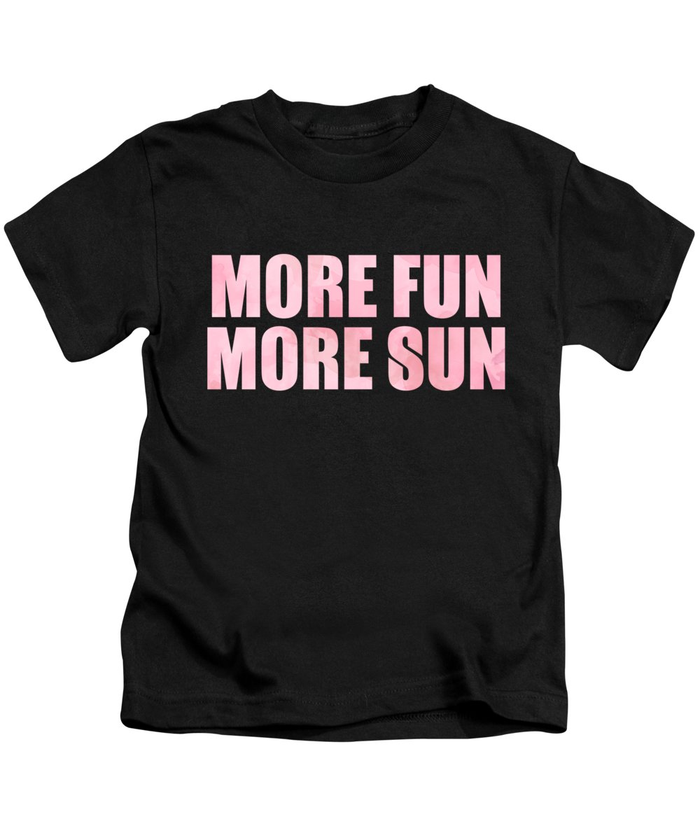 Beach Kids T-Shirt featuring the digital art More Fun More Sun by Jacob Zelazny
